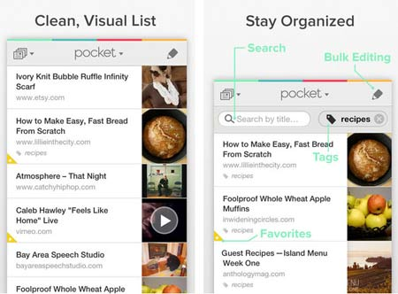 Pocket app for iphone